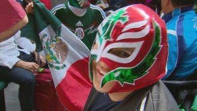 Torcida mexicana desembarca no Recife para acompanhar em jogos da Copa - Torcedores estão confiantes na vitória e prometem fazer muito barulho.