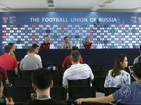 Seleção russa faz treino aberto para o público em Itu - A seleção russa fez o treino aberto para o público na manhã desta terça-feira no estádio municipal Novelli Júnior em Itu (SP). A estreia dos russos na Copa do Mundo acontece no dia 17, contra a Coréia do Sul, na Arena Pantanal.