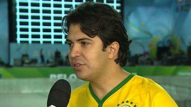Portões do Fan Fest de Belo Horizonte, no Expominas, abrem às 11h nesta quinta-feira - A estrutura foi montada para receber os torcedores, na capital mineira. A partida que estreia o Mundial está marcada para às 17h.