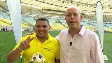 """""""Craque do táxi"""": classificados de todo Brasil disputam vaga na final, em pleno Maracanã - Taxistas levam disputa a sério e vibram quando acertam,"""