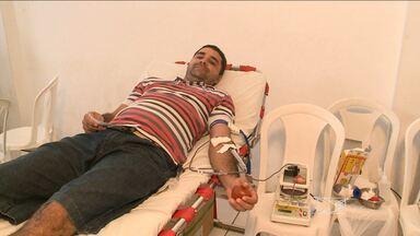 Comunidade ajuda na campanha pela doação de sangue - Integrantes da igreja 'Batista Novo Alvorecer' sabem que neste período do ano o estoque de sangue do Hemomar está em baixa e por isso a doação de sangue precisa ser feita.