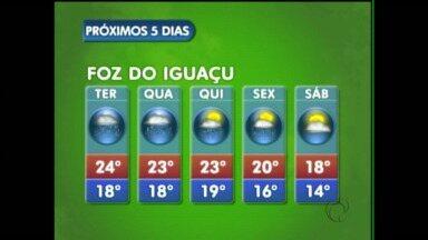 Veja a previsão do tempo para Foz do Iguaçu - O tempo fica instável pelo menos até sexta-feira na cidade.