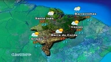 Veja como fica a previsão do tempo para esta segunda-feira (23) - Sol forte e altas temperaturas hoje em todas as áreas do Maranhão.