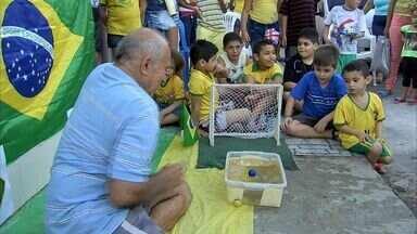 Peixe Neymar arrisca palpite para o jogo do Brasil - Bichinho cearense guru da Vila União.