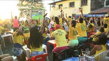 Segunda-feira cheia de emoção com a vitoria do Brasil em cima de Camarões - A expectativa e o otimismo tomaram conta de todos os cantos de São Luís.