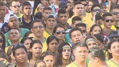 Jornal de Rondônia acompanha jogo do Brasil na praça das Três Caixas D'água - O jogo aconteceu no fim da tarde de ontem.