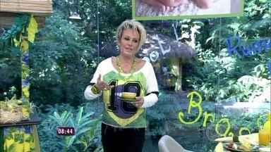 Mais Você está em clima de festa junina! - Ana Maria mostra decoração feita na casa de vidro