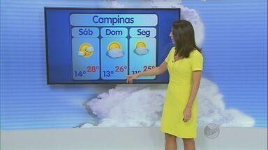 Umidade cai e sábado deve ser de sol em Campinas - Os termômetros marcam até 28°C neste sábado (28).