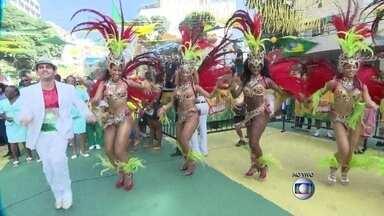 Torcida carioca faz festa com muito samba no Alzirão, na Tijuca - A Rua Alzira Brandão, na Tijuca já está cheia de torcedores preparados para o jogo deste sábado (28). A bateria da Grande Rio comanda a festa no Alzirão.