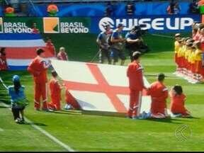 Um jovem de Araguari participou da abertura do jogo entre Inglaterra e Costa Rica - Partida aconteceu em Belo Horizonte e segundo família, o jovem fez por merecer.