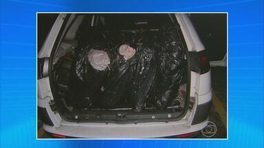 PRF e PF apreendem 200 quilos de maconha em Moreno - Droga estava em sacos plásticos, no porta-malas de um táxi de Paulista.