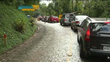 Fim de semana movimentado na Estrada da Graciosa - Foi o primeiro fim de semana com a estrada reaberta, depois de quatro meses fechada.