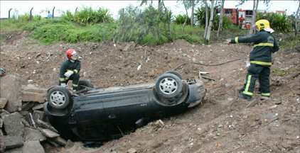 Carro se envolve em acidente no bairro José Américo, em João Pessoa - Segundo a polícia, a mulher que dirigia o veículo perdeu o controle e capotou. Duas pessoas ficaram feridas e estão internadas em estado de saúde regular.