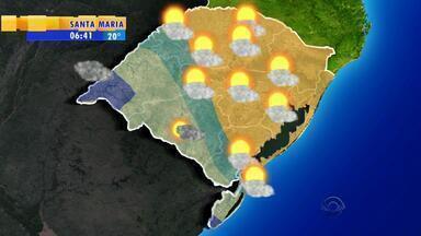 Tempo: chuva atinge RS nesta terça-feira (15) - Precipitação pode chegar a 30mm em algumas regiões.