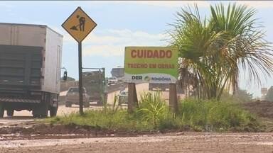 Rondônia TV fala sobre prazo de entrega da marginal da BR-346, conhecida como Rua da Beira - As obras de recuperação da rua estão lentas.