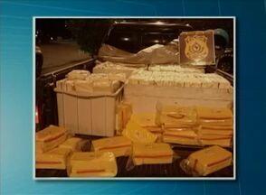 Mais de 800 kg de queijo transportados de forma irregular são apreendidos - Apreensão ocorreu no quilômetro 66 da BR-424 em Caetés, no Agreste.