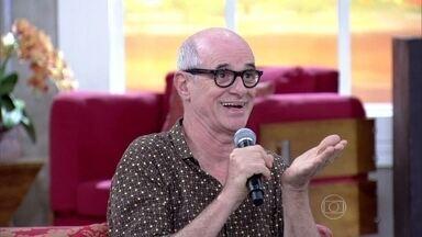 Caruso relembra acidente doméstico - Fátima também conta momento de susto com o filho