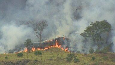 Estiagem aumenta número de queimadas no Brasil - Um levantamento do instituto nacional de pesquisas espaciais, o Inpe, mostra que só esse ano já foram registradas quase 28 mil queimadas no Brasil um aumento de 45% em relação ao ano passado.