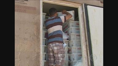 PRF apreende 11 toneladas de peixe em veículo na BR-232 - Alimento estava impróprio para consumo. Flagrante aconteceu em São Caetano, a 148 quilômetros do Recife.