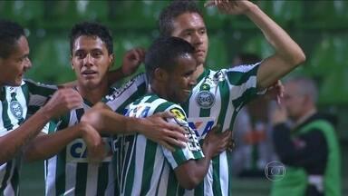 Os gols da rodada de quinta-feira pela Copa do Brasil - Londrina vence o time o Santos por 2 a 1. Curitiba leva a melhor no jogo contra o Paysandu e termina o placar com 2 a 0.
