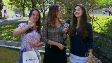 Participante do Espelho Mágico visita Projac e conhece Jessika Alves - Uma nova Guiomar, de Em Família, surge com a ajuda do Vídeo Show