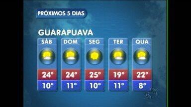 O sábado vai ser mais quente na região de Guarapuava - Os termômetros podem marcar até 24 graus na cidade.