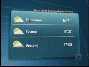 Tempo esquenta no Oeste Paulista neste sábado (1º) - Não há previsão de chuva; confira as temperaturas para cidades da região.