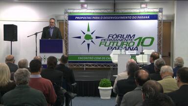 Candidatos falam a lideranças paranaenses - Roberto Requião, Gleisi Hoffmann e Beto Richa defenderam seus planos de governo no Fórum Permanente Futuro 10 Paraná.