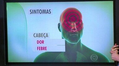 Veja quais são os sintomas do ebola - Os sintomas do ebola lembram uma dengue muito forte. Começam com dor de cabeça e febre. Depois, o doente passa a ter dores nos músculos e articulações. Também podem ocorrer vômitos, falta de apetite e dor abdominal.