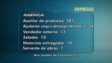 Veja as vagas de emprego para Maringá e região - Hoje as as vagas são das agências do trabalhador de Maringá, Paiçandu e Campo Mourão.