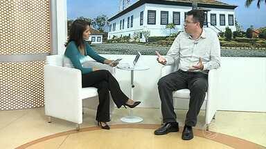 Estiagem é tema de entrevista do estúdio do RJTV, em Resende, RJ - Representante da Associação Pró-Gestão das Águas da Bacia Hidrográfica do Rio Paraíba do Sul (Agevap) explicou o que poderá ser feito para amenizar os transtornos.