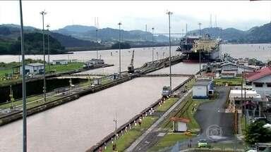 Obra de ampliação do Canal do Panamá causa impacto nas florestas - Com a extensão do canal, 500 hectares de área verde vão desaparecer. Por isso, o governo do Panamá desenvolve programas de preservação.