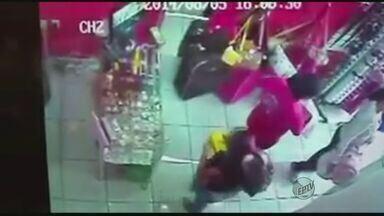 Câmeras flagram furto em loja em Alfenas - Câmeras flagram furto em loja em Alfenas