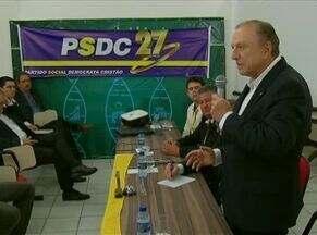 Candidato à Presidência, José Maria Eymael esteve no Recife - Dentre os assuntos abordados na visita, Eymael falou sobre cargas tributárias.