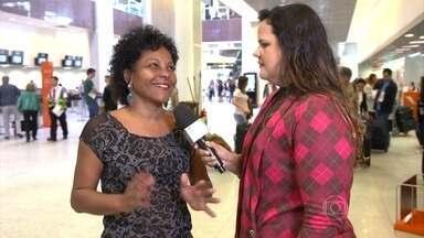 Jovem faz campanha para ser repórter do Encontro - Paulinha conseguiu fazer uma reportagem para o programa