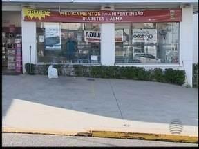 Farmácia é assaltada pela segunda vez em menos de 24 horas - Dinheiro foi recuperado pelos policiais.