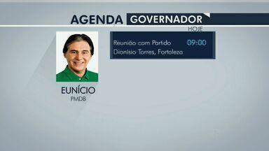 Candidatos ao governo cearense cumprem agenda de campanha nessa segunda-feira - Compromissos serão realizados em Fortaleza.