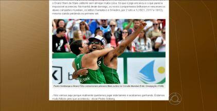 Álvaro Filho e Pedro Solberg vencem etapa do Circuto Mundial de Volei de Praia - Dupla do paraibano conquista medalha de ouro na etapa da Polônia do mundial. Outro paraibano, George, avança nos Jogos da Juventude de Naquim, na China