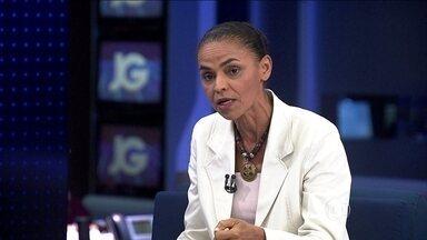 Marina Silva é entrevistada no Jornal da Globo - Segunda parte - A candidata do PSB À Presidência da República foi entrevistada pelo JG.