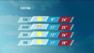 Veja como fica a previsão do tempo no fim de semana - Amanhã, a temperatura máxima em Curitiba chega aos 24 graus