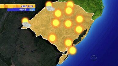 Tempo: semana começa quente em todo estado - Na capital pode fazer 27 graus.