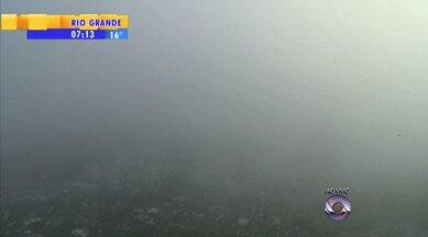 Tempo: neblina na região da campanha nesta manhã - Sensação seca em todo o estado.