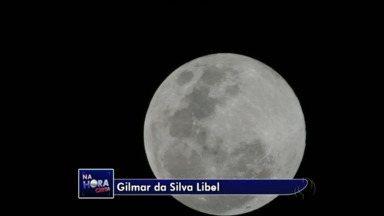 Fenômeno Superlua é vista no céu do Paraná - Telespectadores mandaram imagens para o link Na Hora Certa.