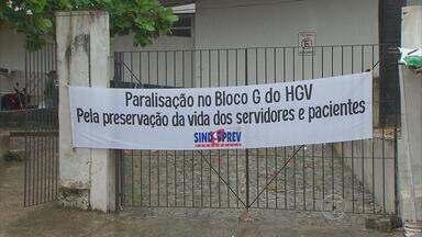 No Recife, funcionários do Hospital Getúlio Vargas se recusam a atender no bloco G - Atendimento no local está suspenso. Servidores temem algum acidente durante a reforma que está sendo feita e prometem só voltar ao trabalho depois que obras forem concluídas.