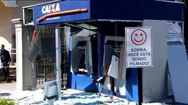 Bandidos explodem caixas eletrônicos - Foi esta madrugada, em Santa Felicidade.