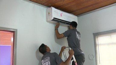 Calor dispara as vendas de ar condicionado - Em pleno inverno lojas registram movimento que era esperado para o verão