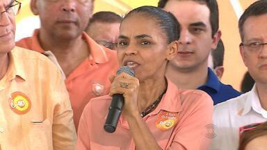 Candidata a presidência, Marina Silva (PSB) cumpre agenda em Campina Grande - Ela participou de comício no Parque do Povo.