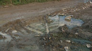 Chuvas registradas em Campina Grande preocupam moradores da periferia - População reclama de ruas alagadas.