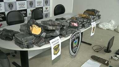Polícia apreende 70kg de droga com traficantes, no interior da Paraíba - Uma outra apreensão foi registrada em Campina Grande: mulher e dois homens foram presos.