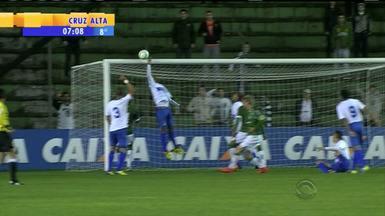 Esporte: Juventude vence São Caetano com gol em pênalti polêmico - Jogador da equipe paulista colocou a mão na bola dentro da área e foi expulso.